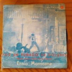 Disques de vinyle: POR UN PUÑADO DE DOLARES - ENNIO MORRICONE - BSO SINGLE 1965. Lote 233106035