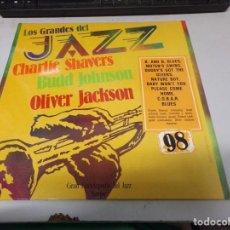 Discos de vinilo: DISCO LOS GRANDES DEL JAZZ NUMERO 98 CHARLIE SHAVERS BUDD JOHNSON OLIVER JACKSON. Lote 233127785