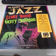 Discos de vinilo: DISCO LOS GRANDES DEL JAZZ NUMERO 99 LESTER YOUNG GERRY MULLIGAN. Lote 233128565