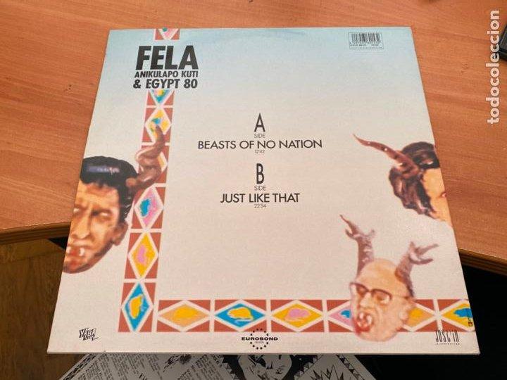 Discos de vinilo: FELA ANIKULAPO KUTI & EGYPT 80 (BEASTS OF NO NATION) LP AFROBEAT 1989 (B-17) - Foto 3 - 255458645