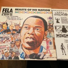 Discos de vinilo: FELA ANIKULAPO KUTI & EGYPT 80 (BEASTS OF NO NATION) LP AFROBEAT 1989 (B-17). Lote 255458645