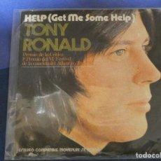 Discos de vinilo: EXPROBS4 DISCO 7 PULGADAS ESTADO VINILO BUENO TONY RONALD HELP GET ME SOME HELP. Lote 233142165