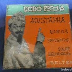 Discos de vinilo: EXPROBS4 DISCO 7 PULGADAS ESTADO VINILO BUENO DODO ESCOLA MUSTAPHA. Lote 233144355