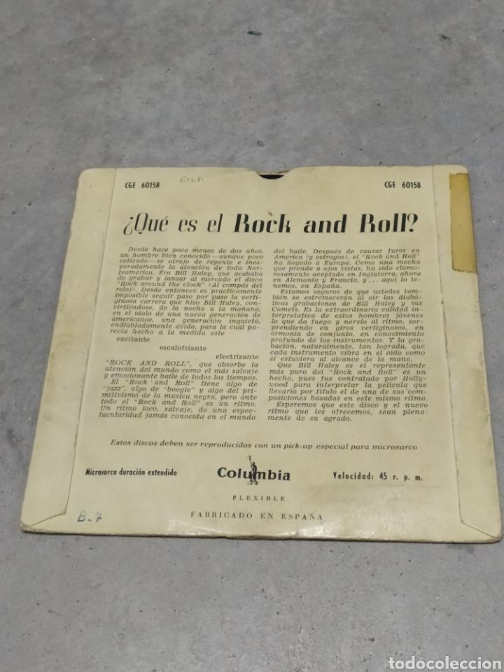 Discos de vinilo: BILL HALEY AND HIS COMETS. ROCK AROUND THE CLOCK. EP SPAIN. RARO CUBIERTA AZUL. LENNY DEE (ÓRGANO) - Foto 2 - 233157630