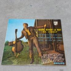 Discos de vinilo: JOHNNY HALLYDAY *QUAND REVIENT LA NUIT MR LONELY + 3. EP PHILIPS 1965. ED. ESPAÑOLA. Lote 233159270