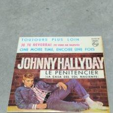 Discos de vinilo: JOHNNY HALLYDAY *LE PENITENCIER +3* EP ESPAÑA 1964 PHILIPS. Lote 233160000