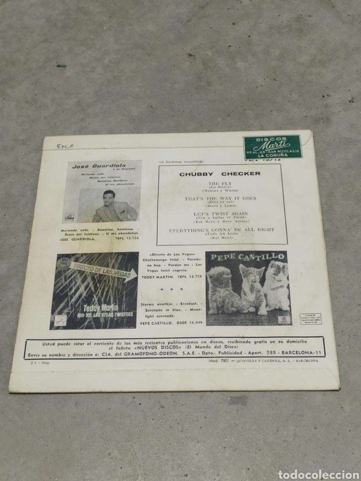 Discos de vinilo: CHUBBY CHECKER * THE FLY +3 * EP ESPAÑA 1962 ODEON - Foto 2 - 233164270