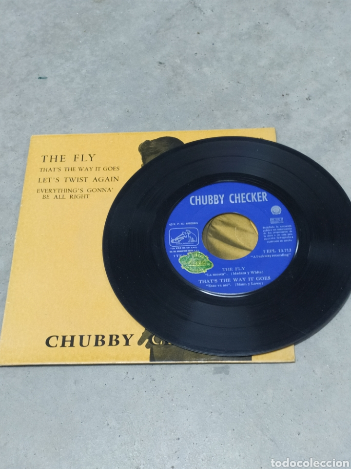 Discos de vinilo: CHUBBY CHECKER * THE FLY +3 * EP ESPAÑA 1962 ODEON - Foto 4 - 233164270
