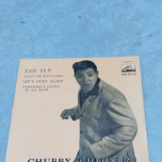 Discos de vinilo: CHUBBY CHECKER * THE FLY +3 * EP ESPAÑA 1962 ODEON. Lote 233164270