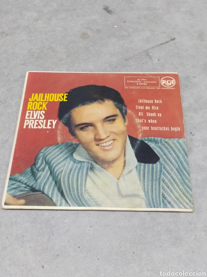 ELVIS PRESLEY * JAILHOUSE ROCK +3* EP ORIGINAL ESPAÑOL RCA 1958 (Música - Discos de Vinilo - EPs - Rock & Roll)