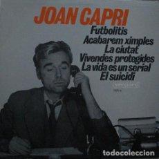 Discos de vinilo: JOAN CAPRI - FUTBOLITIS - LP VERGARA 1968. Lote 233185270
