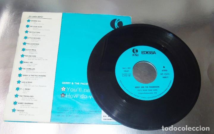 Discos de vinilo: GERRY & THE PACEMAKERS --YOULL NEVER WALK ALONE ---- HOW DO YOU DO IT---VINILO y FUNDA ( NM or M- ) - Foto 2 - 176999557