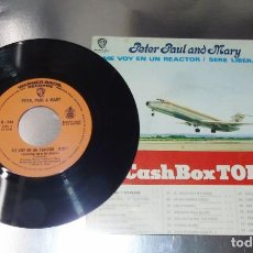 Discos de vinilo: PETER PAUL AND MARY ---LEAVING ON A JET PLANE & I SHALL BE RELEASED ---AÑO 1969 --- VG +. Lote 180983062