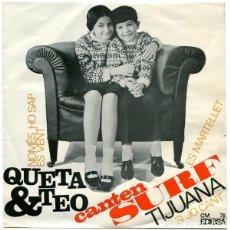 Discos de vinilo: QUETA & TEO – CANTEN SURF - EP SPAIN 1964. Lote 233292360