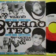 Discos de vinilo: QUETA & TEO – CANTEN NADAL (II) - EP SPAIN 1964. Lote 233292885
