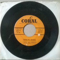 Discos de vinilo: TEXAS BILL STRENGTH. I WAS ONLY TEASIN YOU/ PAPER BOY BOOGIE. CORAL, USA 1952 SINGLE. Lote 233330420