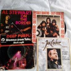 Discos de vinilo: LOTE 4 EPS/ AL STEWAR/DEEP PURPLE/JOE COCKER/ SUZI QUATRO.. Lote 233362350