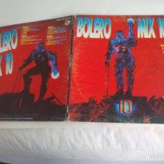 Dischi in vinile: BOLERO MIX 10 - DOBLE LP BLANCO Y NEGRO, SPAIN 1994. QUIQUE QEJADA MIXES. Lote 233396285