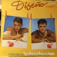 Discos de vinilo: DISEÑO – ¡ PROBLEMAS, NO ! / PÁJAROS EN MI CABEZA - MAXI-SINGLE SPAIN 1983. Lote 233400210