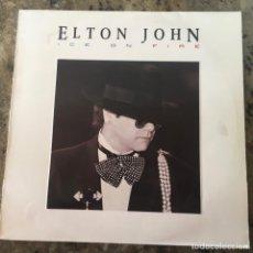 Discos de vinilo: ELTON JOHN - ICE ON FIRE . LP . 1985 THE ROCKET RECORD COMPANY. Lote 233404075