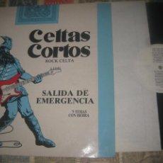 Discos de vinilo: CELTAS CORTOS.ROCK CELTA. 9 TEMAS CON HEBRA CON INSERTO (TWINS-1987) GO ESPAÑA. Lote 233412175