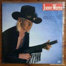 Discos de vinilo: JOHNNY WINTER - SERIOUS BUSINESS - CONSULTAR POSIBILIDAD DE ENVIO GRATIS.. Lote 233415185
