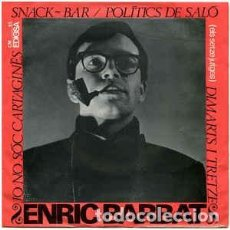 Discos de vinilo: ENRIC BARBAT SNACK BAR / JO NO SOC CARTAGINES ... EP SPAIN 1965. Lote 233439475