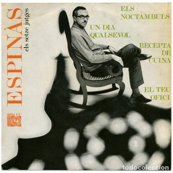 JOSEP MARIA ESPINÀS – ESPINÀS CANTA LES SEVES CANÇONS - EP SPAIIN 1968 (Música - Discos de Vinilo - EPs - Cantautores Españoles)