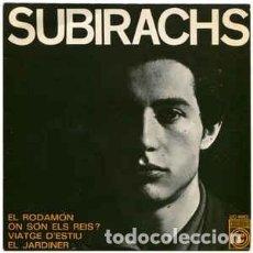 Discos de vinilo: SUBIRACHS – CANTA LES SEVES CANÇONS (II) - EP CONCENTRIC SPAIN 1968 + LETRAS. Lote 233444355