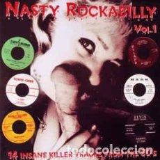 Disques de vinyle: NASTY ROCKABILLY VOL.1 LP NUEVO. Lote 233451755