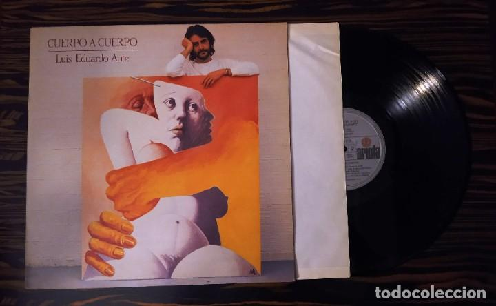Discos de vinilo: LUIS EDUARDO AUTE, LP CUERPO A CUERPO + PÓSTER DIBUJO, ARIOLA I-206137, 1984 - Foto 3 - 233457100