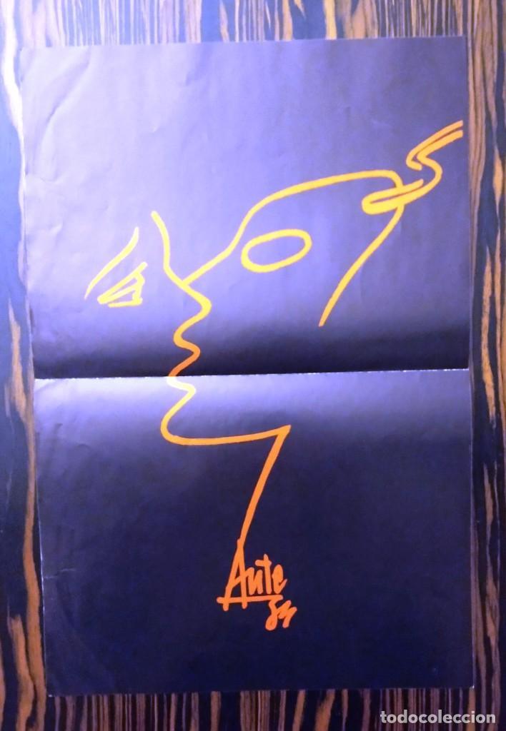 Discos de vinilo: LUIS EDUARDO AUTE, LP CUERPO A CUERPO + PÓSTER DIBUJO, ARIOLA I-206137, 1984 - Foto 4 - 233457100