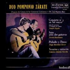 Dischi in vinile: DUO POMPONIO-ZARATE (HAYDN, KAUFMANN, ZÁRATE, TORROBA) (LP) (D:NM). Lote 201335686