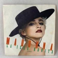 Discos de vinilo: SINGLE MADONNA - LA ISLA BONITA REMIX - UK - AÑO 1987- EXC. Lote 233545095