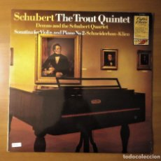 Discos de vinilo: SCHUBERT, THE TROUT QUINTET, DEMUS AND THE SCHUBERT QUARTET, CC7525, 1981. Lote 233445915