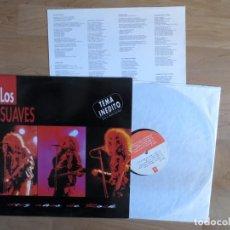 Disques de vinyle: LOS SUAVES: DIEZ AÑOS DE ROCK + TEMA INEDITO (L.P.) MUY RARO !!!!!!. Lote 233560155