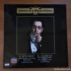 Discos de vinilo: HISTORIA DE LA MÚSICA CLÁSICA Nº 8, SCHUBERT, CLEMENTI, .DECCA 411 543-1, PLANETA, 1983. Lote 233571670