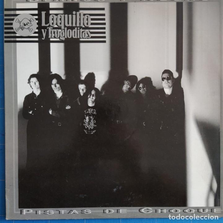 """LOQUILLO Y TROGLODITAS - BLANCO Y NEGRO / PISTAS DE CHOQUE (12"""", MAXI) (Música - Discos de Vinilo - Maxi Singles - Pop - Rock - New Wave Internacional de los 80)"""