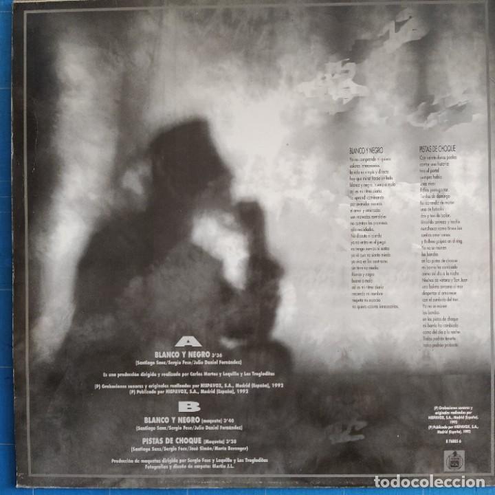 """Discos de vinilo: Loquillo Y Trogloditas - Blanco Y Negro / Pistas De Choque (12"""", Maxi) - Foto 2 - 233581370"""
