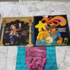 Discos de vinilo: LOTE ANTIGUOS DISCOS INFANTILES. Lote 233610660