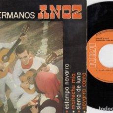Discos de vinilo: LOS HERMANOS ANOZ - ESTAMPA NAVARRA - EP DE VINILO FOLKLORE NAVARRO. Lote 233649765