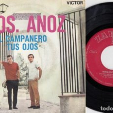 Discos de vinilo: LOS HERMANOS ANOZ - EL CAMPANERO - SINGLE DE VINILO FOLKLORE NAVARRO. Lote 233649890