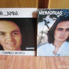 Discos de vinilo: 2 LP'S DE USA ESTADOS UNIDOS CAMILO SESTO AMOR...AMAR Y MEMORIAS VER LAS FOTOGRAFIAS. Lote 233652485