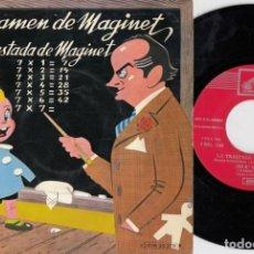 Discos de vinilo: JOSE MARIA TARRASA Y MAGINET - EL EXAMEN DE MAGINET / LA TRASTADA DE MAGINET - EP DE VINILO HUMOR. Lote 233654505