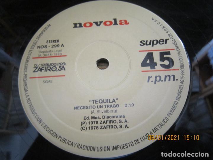 Discos de vinilo: TEQUILA - NECESITO UN TRAGO / BUSCANDO PROBLEMAS - MAXI 45 R.P.M ORIGINAL ESPAÑOL - NOVOLA 1978 - - Foto 5 - 233666730