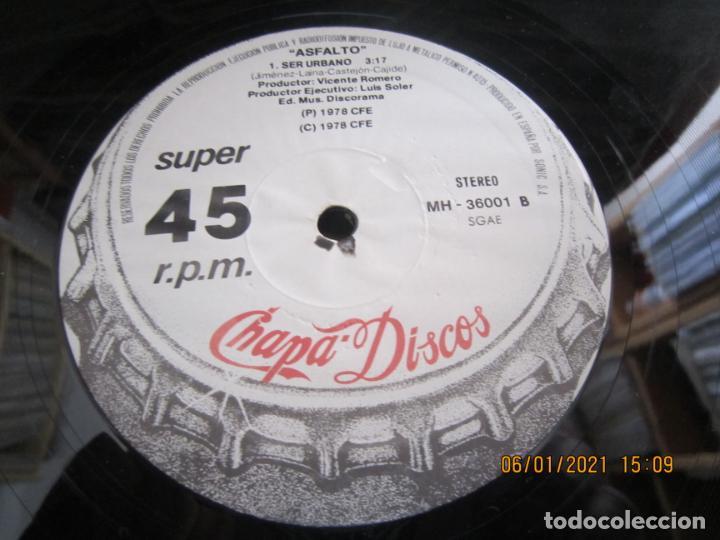 Discos de vinilo: ASFALTO - CAPITAN TRUENO / SER URBANO - MAXI 45 R.P.M. ORIGINAL ESPAÑOL - CHAPA DISCOS 1978 - SUPER - Foto 6 - 233668785