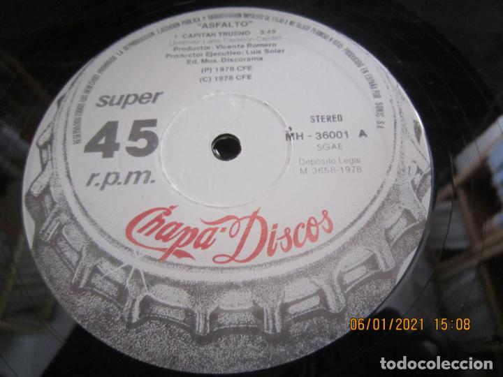 Discos de vinilo: ASFALTO - CAPITAN TRUENO / SER URBANO - MAXI 45 R.P.M. ORIGINAL ESPAÑOL - CHAPA DISCOS 1978 - SUPER - Foto 7 - 233668785
