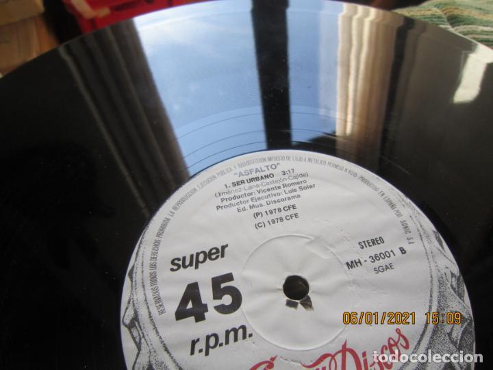 Discos de vinilo: ASFALTO - CAPITAN TRUENO / SER URBANO - MAXI 45 R.P.M. ORIGINAL ESPAÑOL - CHAPA DISCOS 1978 - SUPER - Foto 8 - 233668785