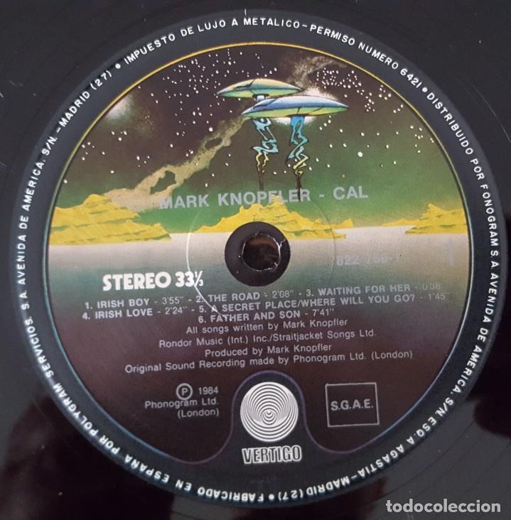 Discos de vinilo: LP / MUSIC BY MARK KNOPFLER FROM THE FILM CAL, 1984 EDICIÓN ESPAÑOLA - Foto 5 - 233699485