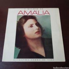 Disques de vinyle: O MELHOR DE AMALIA RODRIGUES - ESTRANHA FORMA DE VIDA. Lote 233703415